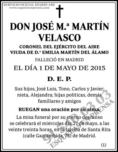 José M.ª Martín Velasco